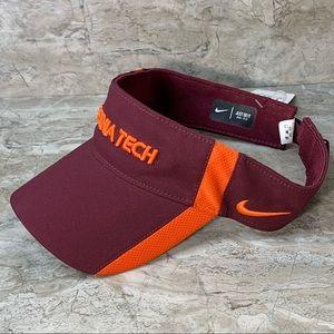 NWT Virginia Tech Nike football visor hat